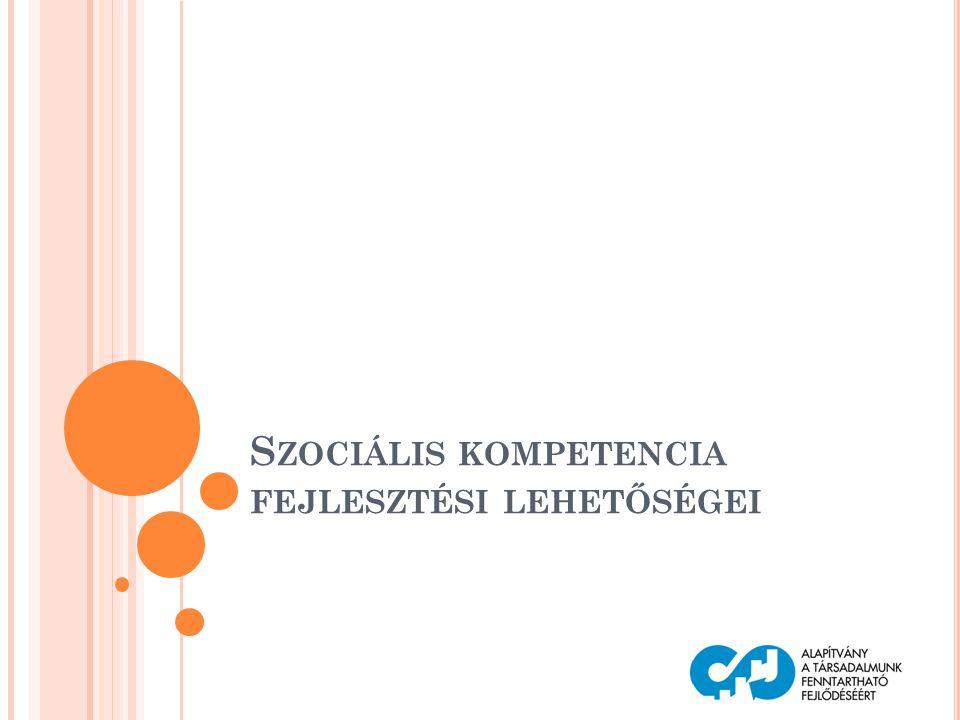 Szociális kompetencia fejlesztési lehetőségei