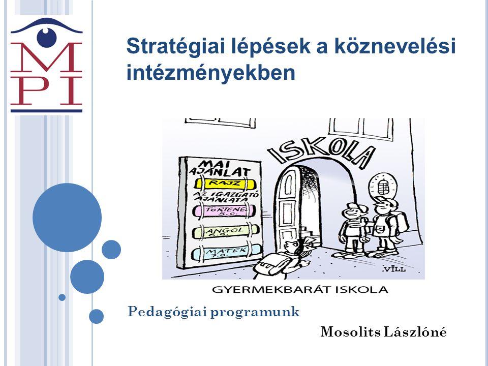 Stratégiai lépések a köznevelési intézményekben