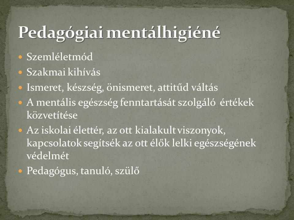 Pedagógiai mentálhigiéné