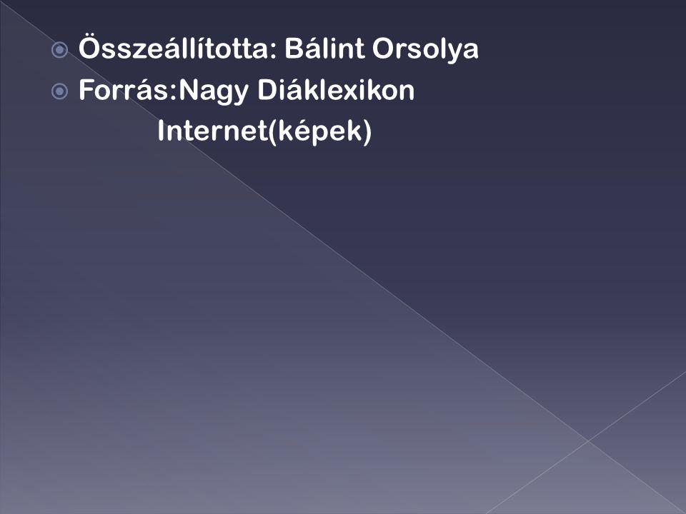 Összeállította: Bálint Orsolya