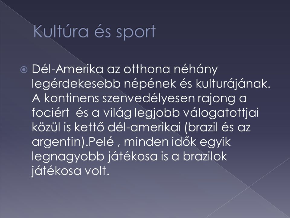 Kultúra és sport