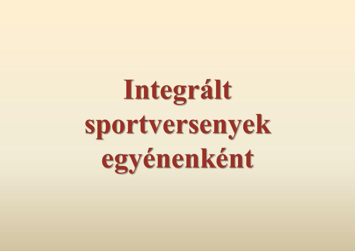 Integrált sportversenyek egyénenként