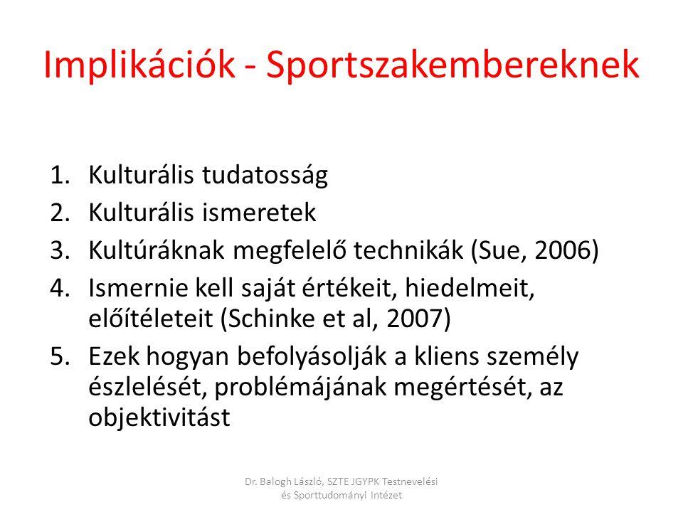 Implikációk - Sportszakembereknek
