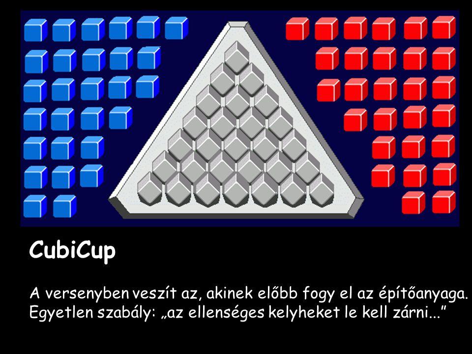 CubiCup A versenyben veszít az, akinek előbb fogy el az építőanyaga.
