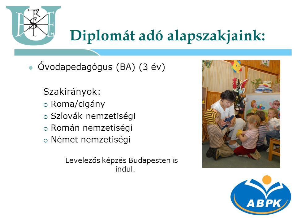 Diplomát adó alapszakjaink: