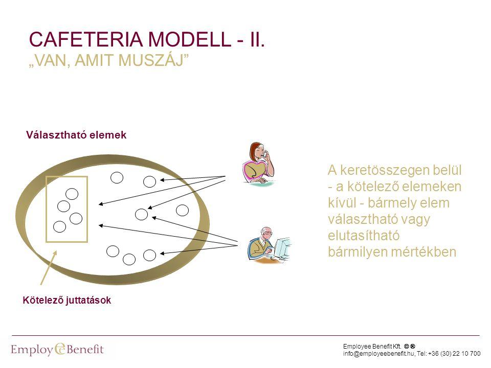 "CAFETERIA MODELL - II. ""VAN, AMIT MUSZÁJ"