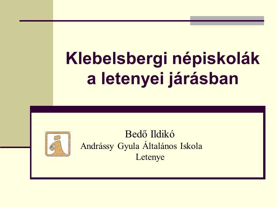 Klebelsbergi népiskolák a letenyei járásban