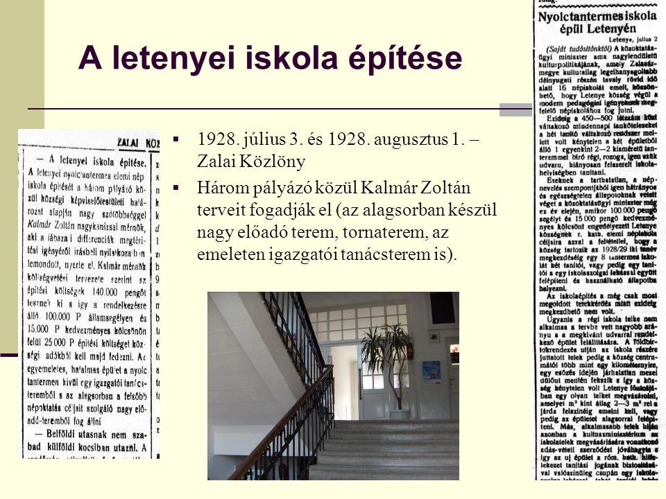 A letenyei iskola építése