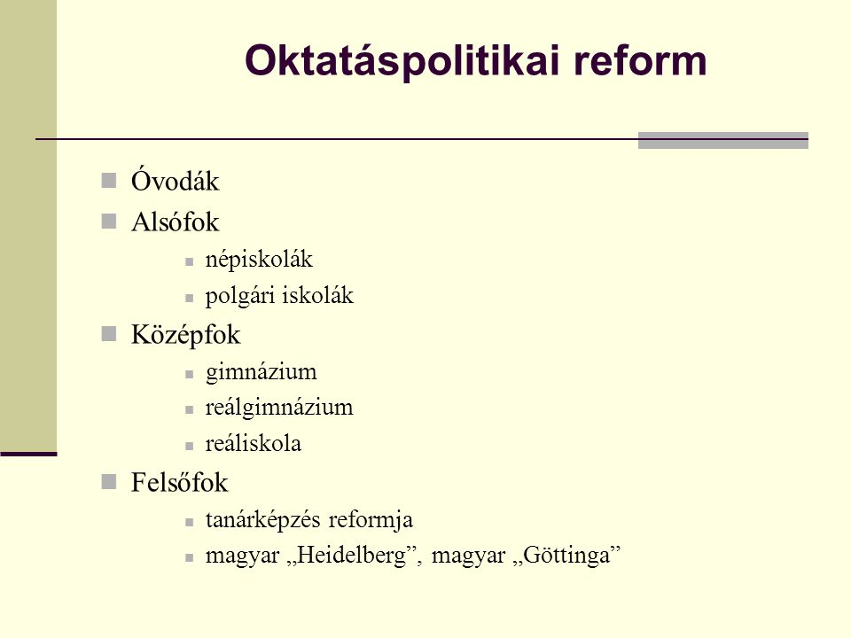 Oktatáspolitikai reform