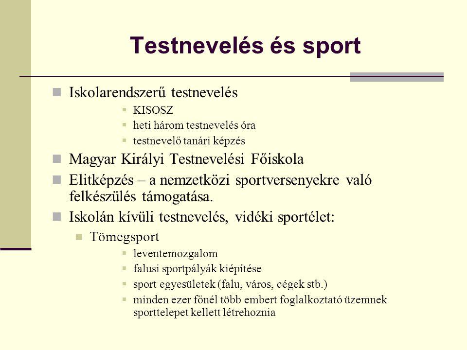 Testnevelés és sport Iskolarendszerű testnevelés