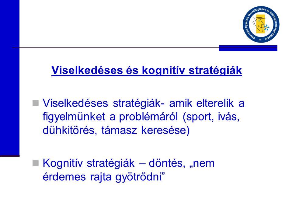 Viselkedéses és kognitív stratégiák