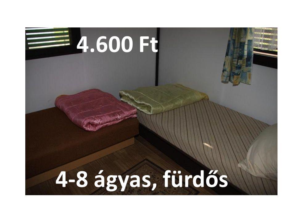 4.600 Ft 4-8 ágyas, fürdős