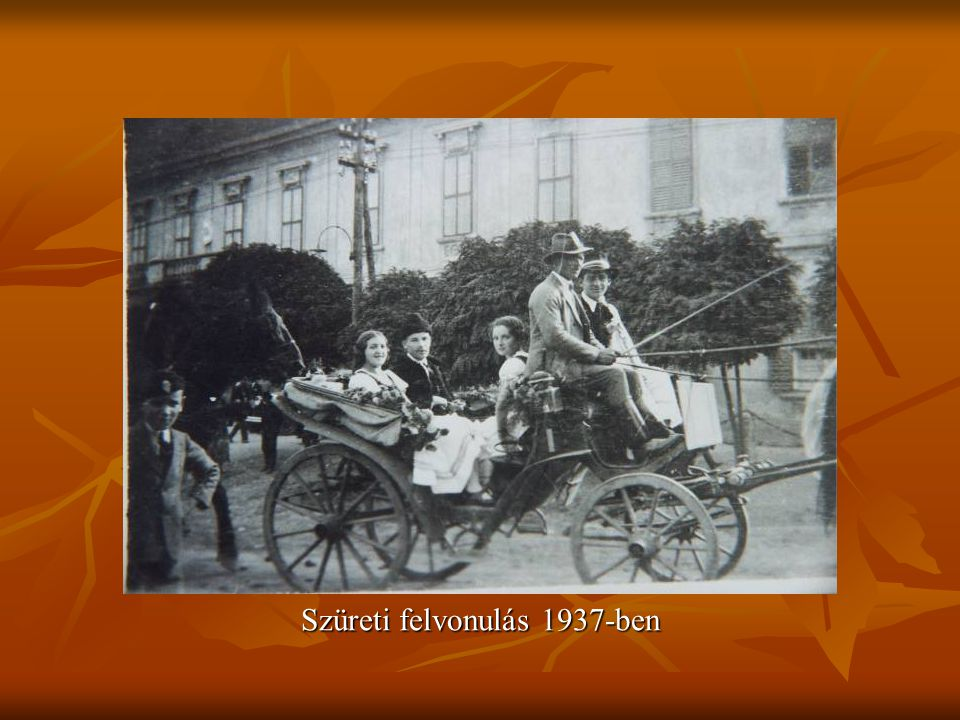 Szüreti felvonulás 1937-ben