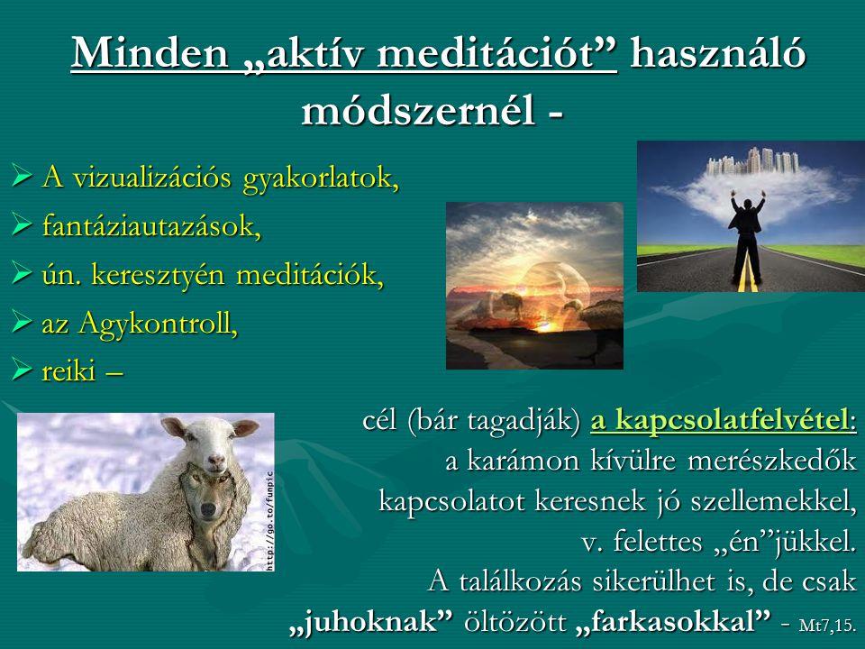 """Minden """"aktív meditációt használó módszernél -"""