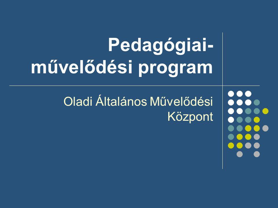 Pedagógiai-művelődési program