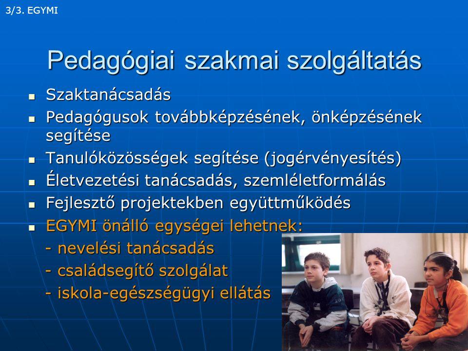 Pedagógiai szakmai szolgáltatás