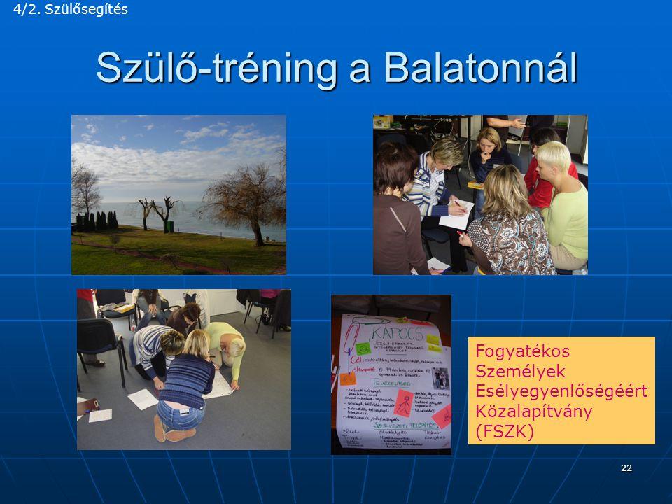 Szülő-tréning a Balatonnál