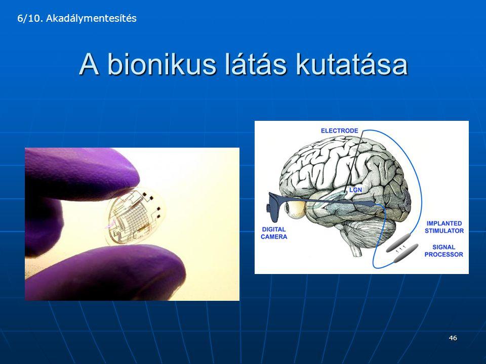 A bionikus látás kutatása