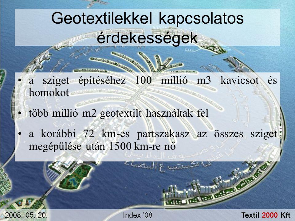 Geotextilekkel kapcsolatos érdekességek