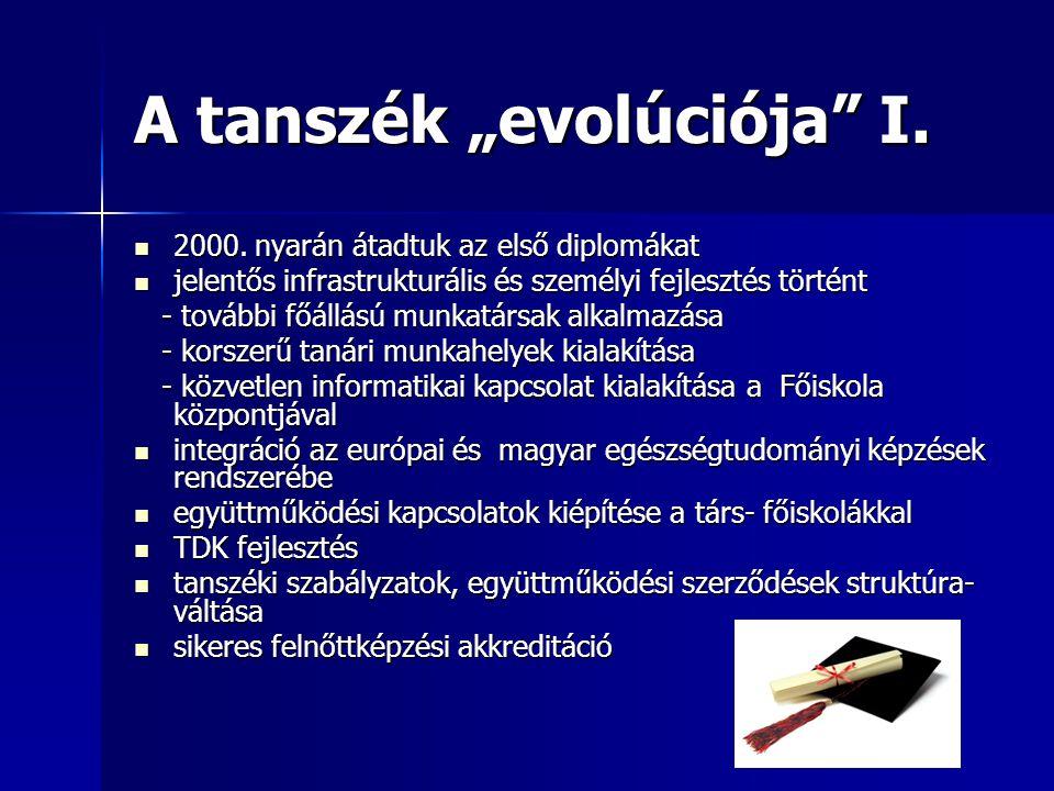 """A tanszék """"evolúciója I."""