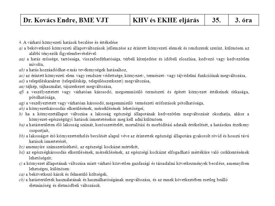 Dr. Kovács Endre, BME VJT KHV és EKHE eljárás 35. 3. óra