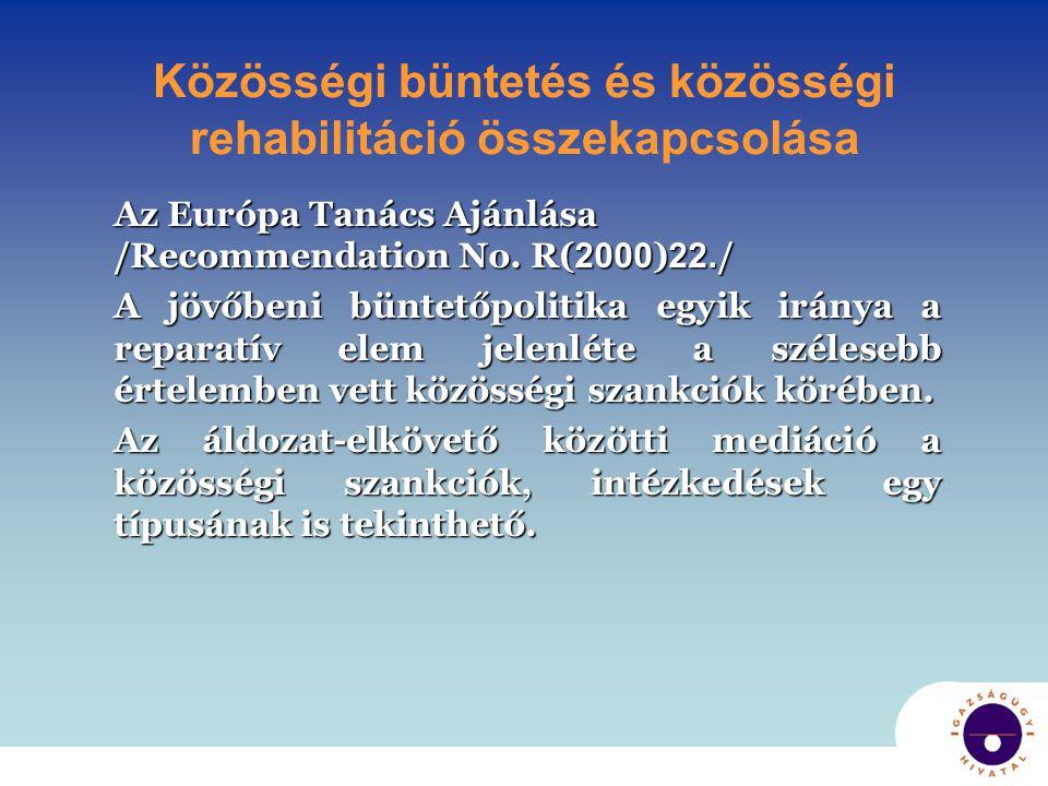 Közösségi büntetés és közösségi rehabilitáció összekapcsolása