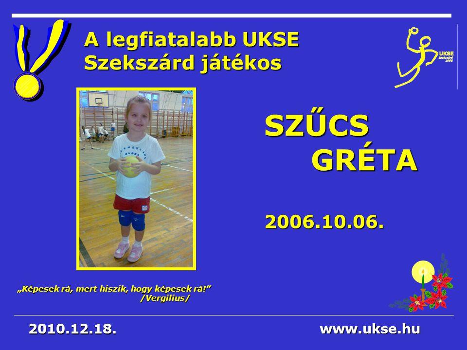 A legfiatalabb UKSE Szekszárd játékos