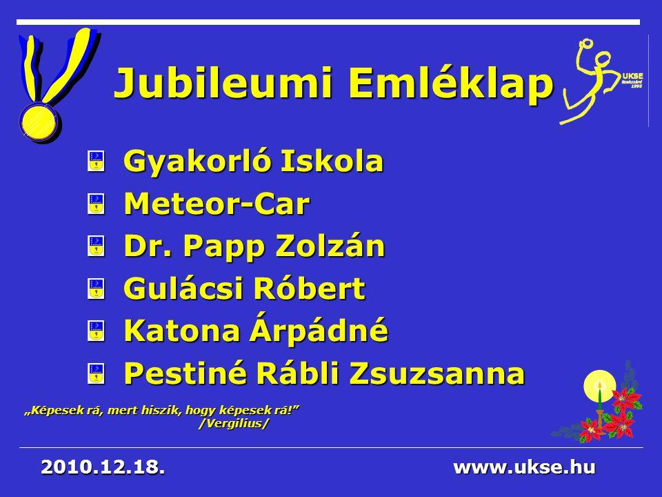 Jubileumi Emléklap Gyakorló Iskola Meteor-Car Dr. Papp Zolzán