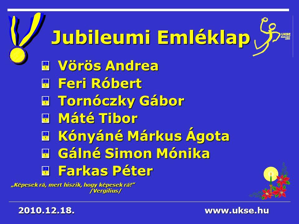Jubileumi Emléklap Vörös Andrea Feri Róbert Tornóczky Gábor Máté Tibor