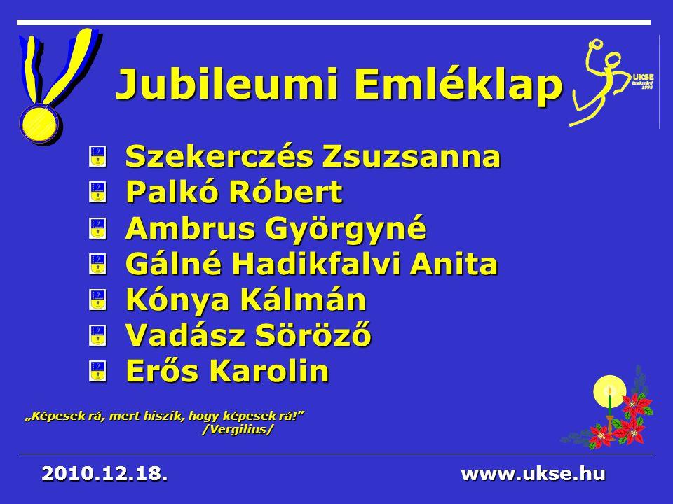 Jubileumi Emléklap Szekerczés Zsuzsanna Palkó Róbert Ambrus Györgyné