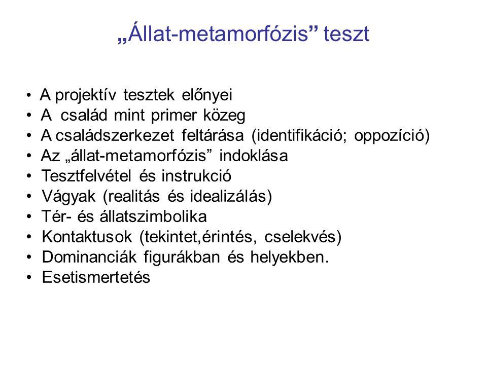 """""""Állat-metamorfózis teszt"""