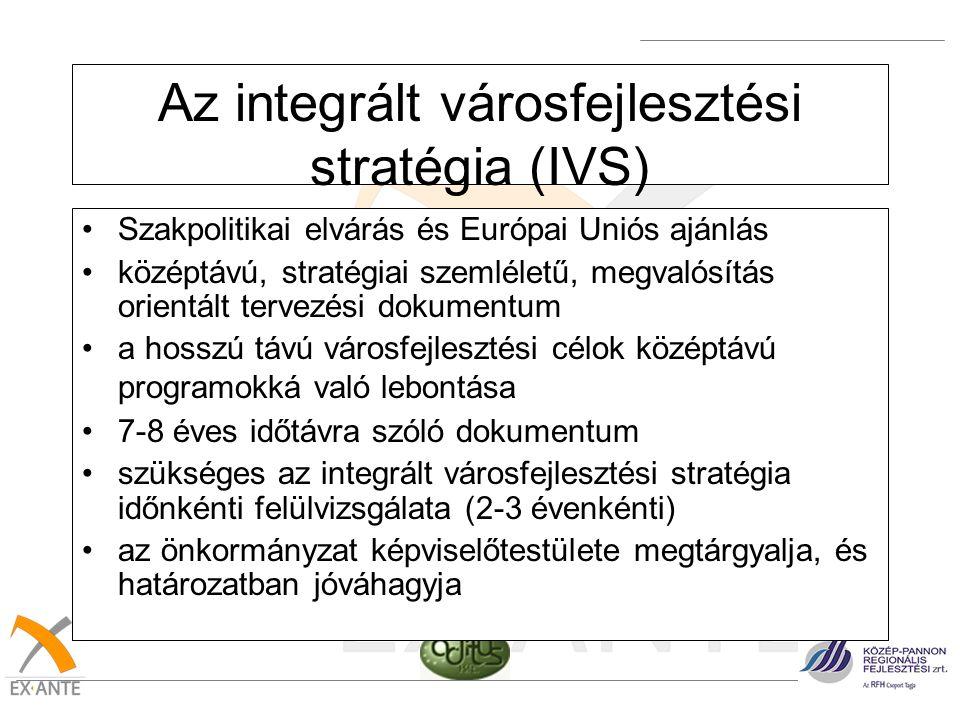 Az integrált városfejlesztési stratégia (IVS)