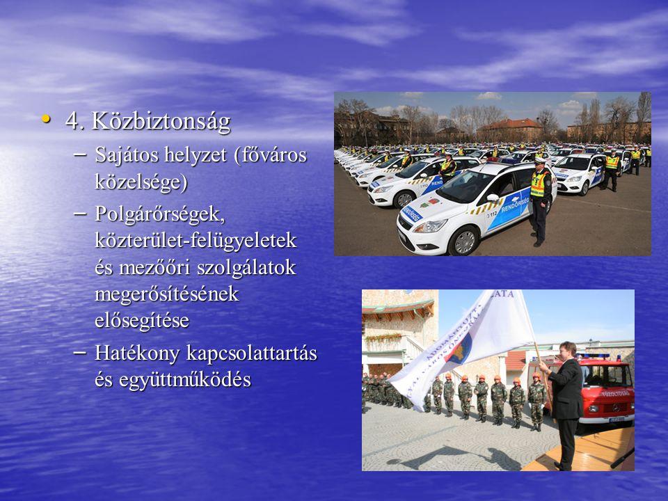 4. Közbiztonság Sajátos helyzet (főváros közelsége)