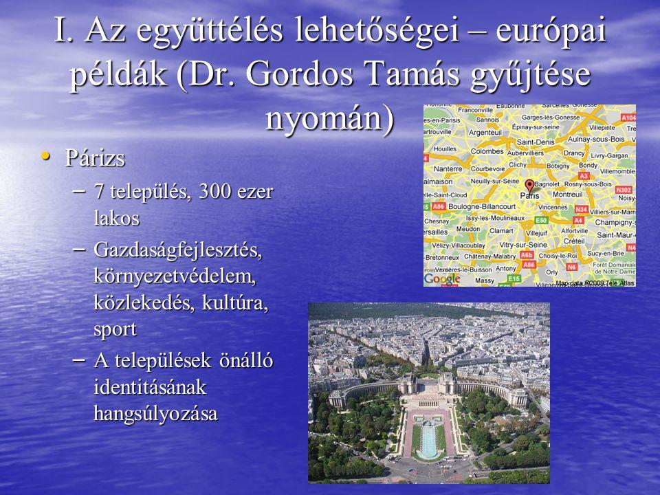 I. Az együttélés lehetőségei – európai példák (Dr