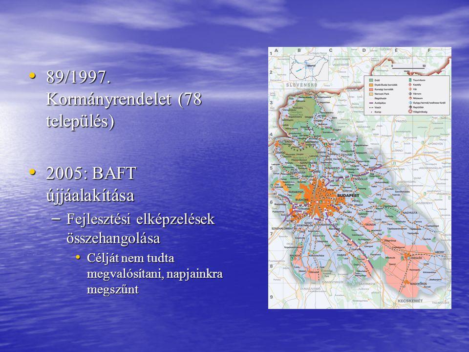 89/1997. Kormányrendelet (78 település)