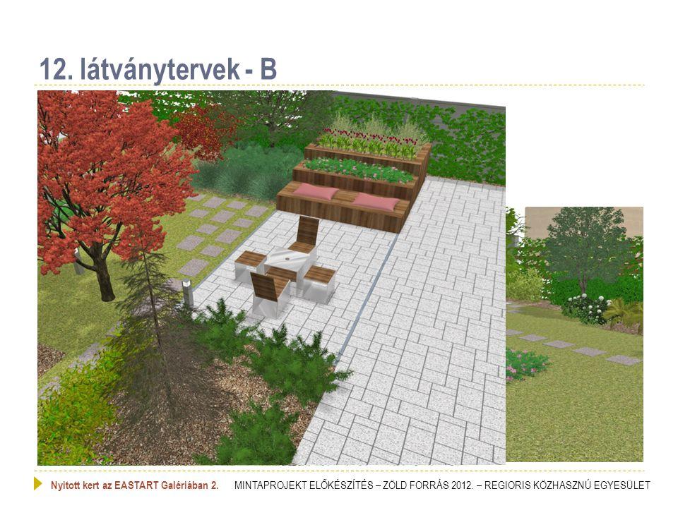 12. látványtervek - B Nyitott kert az EASTART Galériában 2.