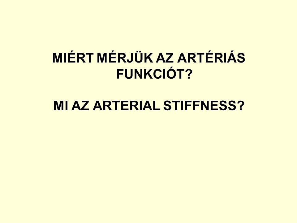 MIÉRT MÉRJÜK AZ ARTÉRIÁS FUNKCIÓT MI AZ ARTERIAL STIFFNESS