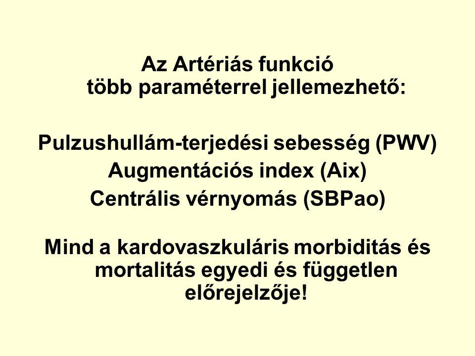 Az Artériás funkció több paraméterrel jellemezhető: