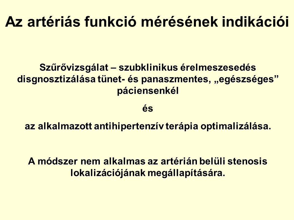 Az artériás funkció mérésének indikációi