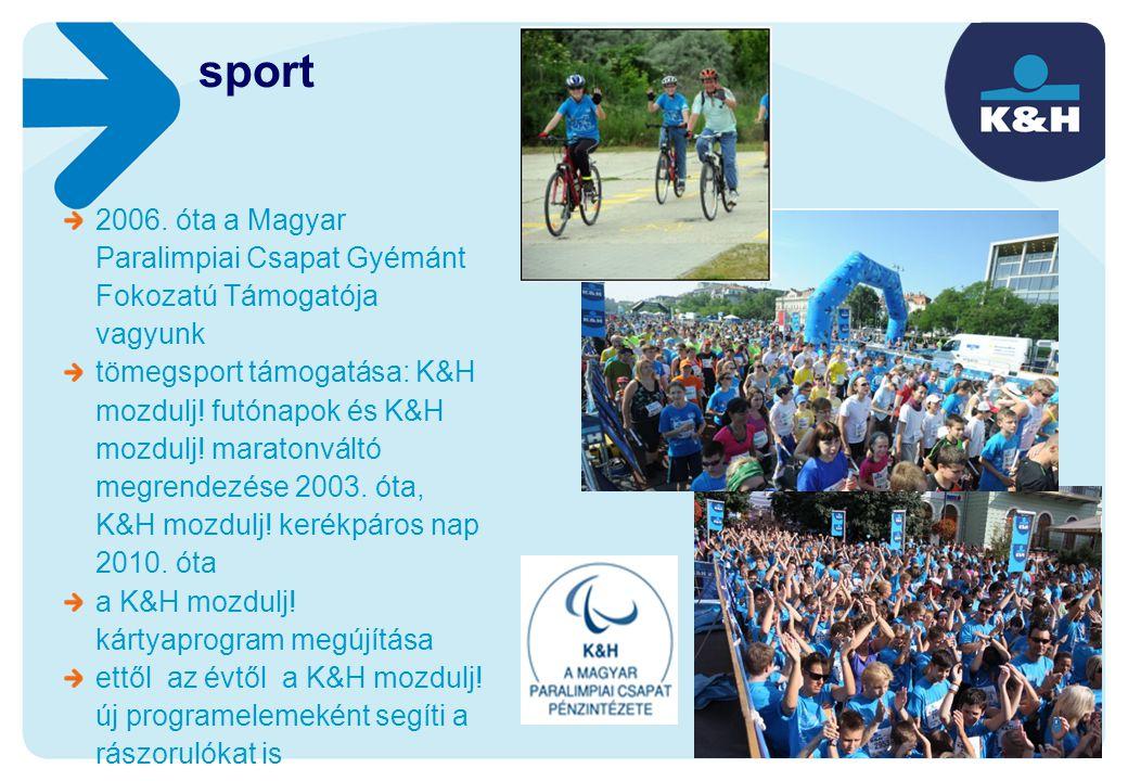 sport 2006. óta a Magyar Paralimpiai Csapat Gyémánt Fokozatú Támogatója vagyunk.