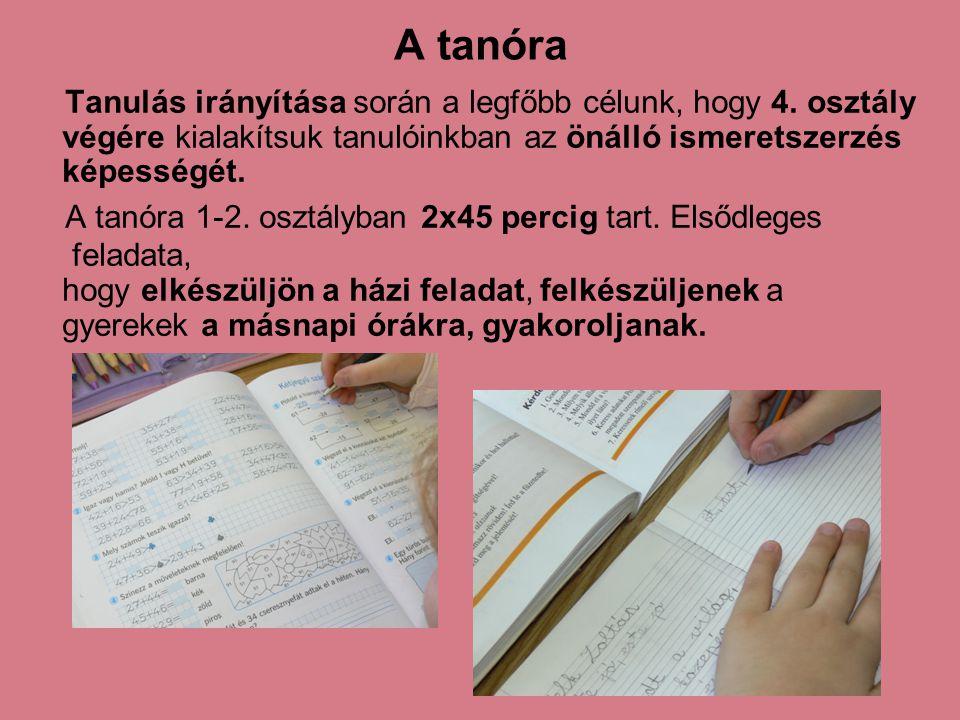 A tanóra Tanulás irányítása során a legfőbb célunk, hogy 4. osztály