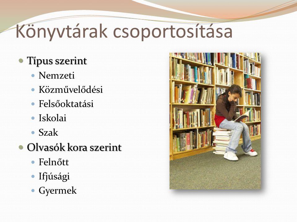 Könyvtárak csoportosítása