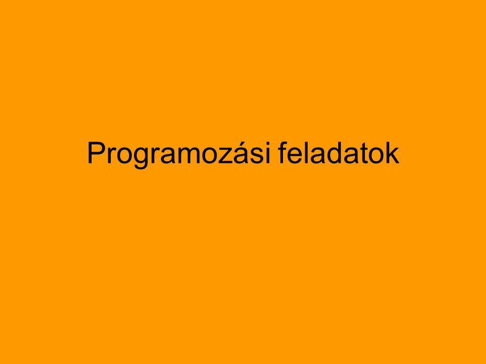 Programozási feladatok
