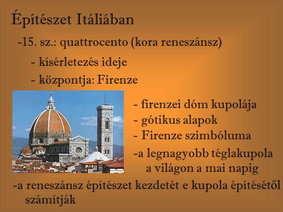 Építészet Itáliában 15. sz.: quattrocento (kora reneszánsz)