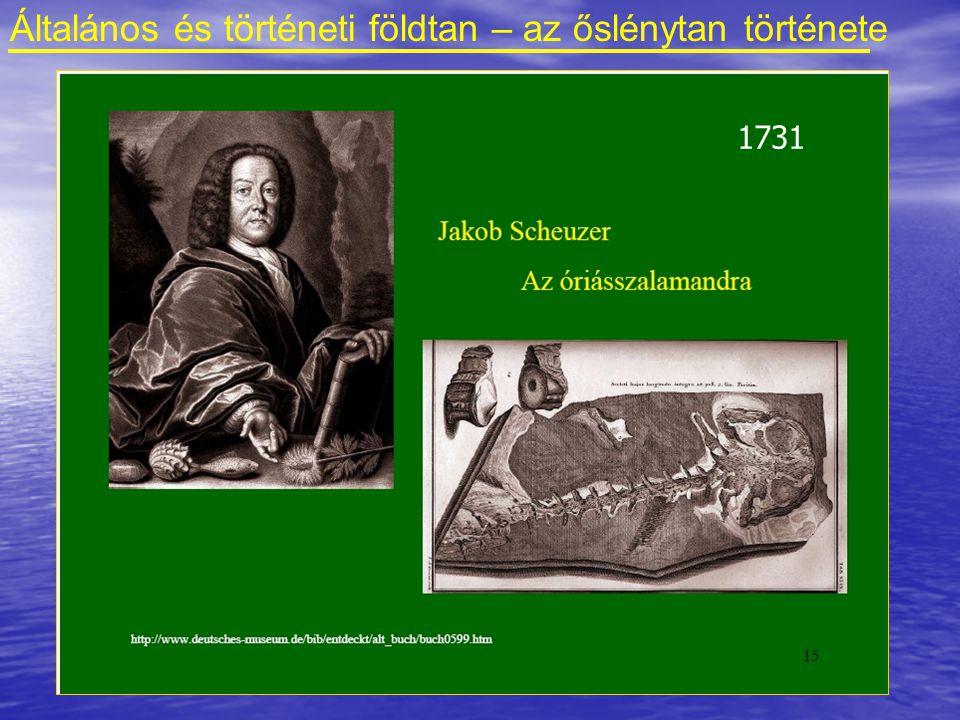 Általános és történeti földtan – az őslénytan története