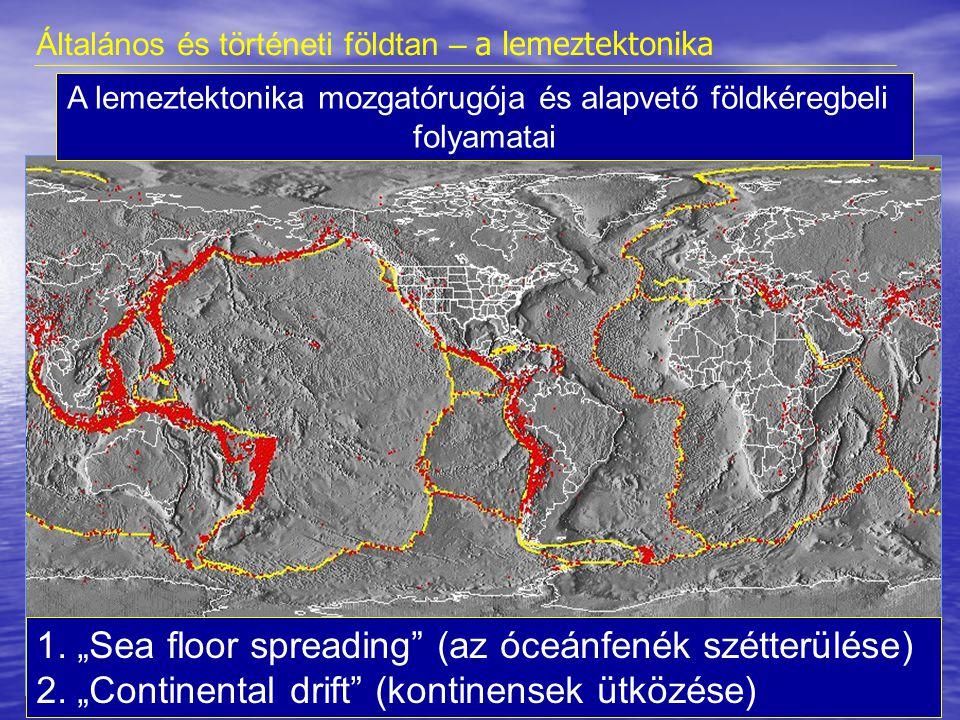 A lemeztektonika mozgatórugója és alapvető földkéregbeli