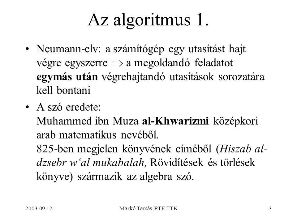 Az algoritmus 1.