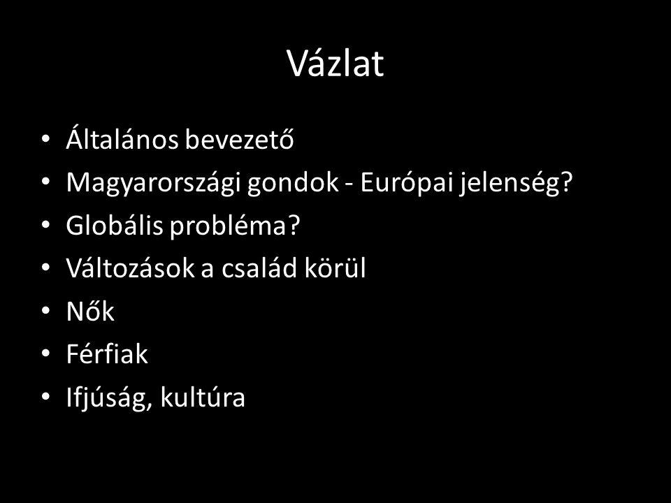 Vázlat Általános bevezető Magyarországi gondok - Európai jelenség