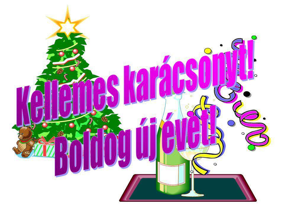 Kellemes karácsonyt! Boldog új évet!