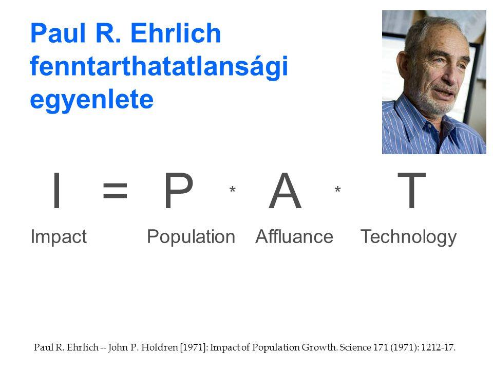 Paul R. Ehrlich fenntarthatatlansági egyenlete